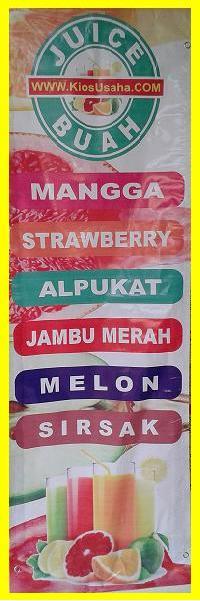 banner bisnis jus buah